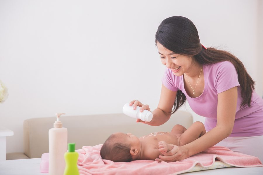 Talc Risk Mother and Baby
